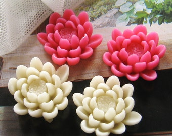 8 ps 23mm - Assorted Lotus Cabochon (CA828-Ass)