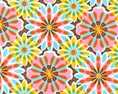 Glam Garden Fabric Floral Burst Robert Kaufman Summer Retro 1 yard