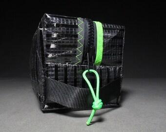 Mens Toiletry Kit - Carbon Fiber Black and Neon Green - Groomsmen Gift