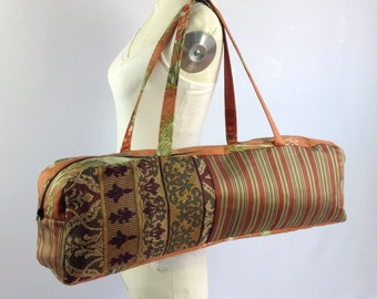 Yoga bag, orange patchwork