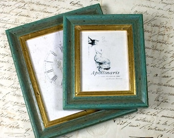 Mini Turquoise and Gold Shabby Cottage Frame
