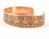 William Morris Brer Rabbit - Skinny Cuff Bracelet - Rabbit Jewelry - Arts and Crafts Movement - Unique Gifts Under 30