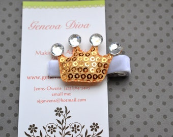 Princess Crown Hairclip In Gold