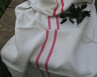 C 92 Grain Sack antique LITTLE GIRL PINK  pillow benchcushion 20.08 wide wedding girl room decoration
