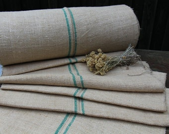 nr. 131 antique hemp linen ecofriendly for stairrunner carpet bathmat SMARAGD GREEN 15.30 yards