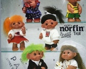 "UNCUT Troll Clothes Pattern for 10"" Troll Doll Butterick 6439"