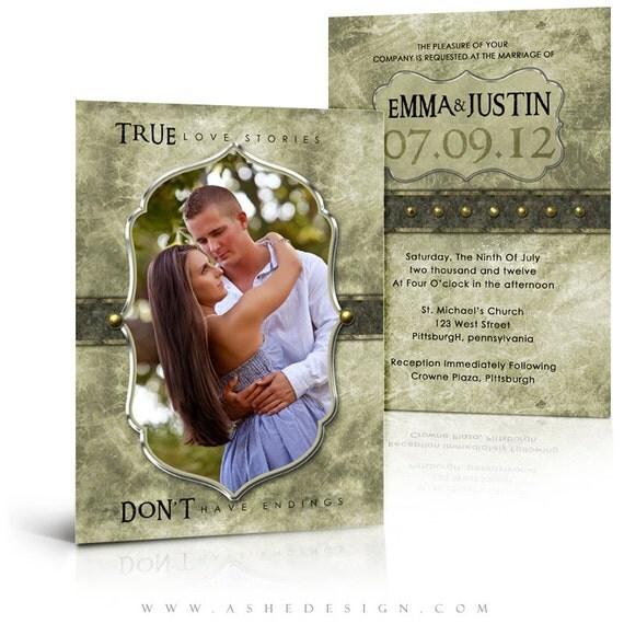 Hochzeitseinladungen - ELEGANT GEBÜRSTETEM GRUNGE - (4) drücken Sie ...
