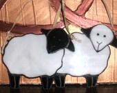 Stained Glass Irish Sheep Suncatcher/Ornament