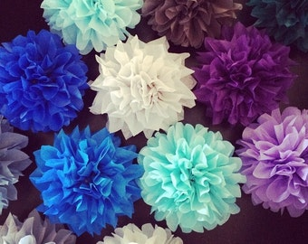 DIY MINI POMS / 10 count / napkin holders / wedding decorations / centerpiece / garland / party decorations / pompoms / table decoration