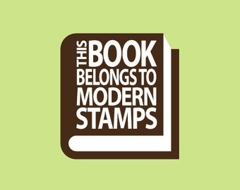 Custom Rubber Stamp   Custom Stamp   Personalized Stamp   Teacher Gifts   This book belongs to Stamp   From the library of Stamp   C261