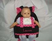 Baby  Doll Carrier in Black with pink accents