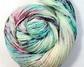 Hand Dyed Sock Yarn - SW Sock 80/20 - Superwash Merino Nylon - 400 yards - Candy