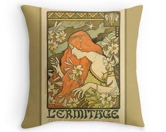 Art Nouveau Period Throw Pillow,