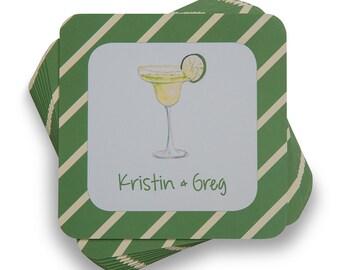 Personalized Coasters Margarita Glass (Quantity 20)