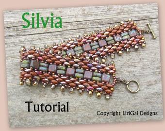 Tutorial Silvia SuperDuo and Brick beads Beadwork Bracelet PDF