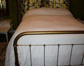 King size white 1950s Chenille bedspread