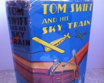 Tom Swift and His Sky Train 1938 Whitman 34 Dust Jacket