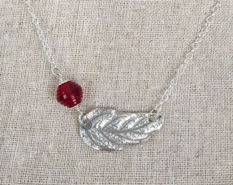 Sterling Silver Falling Leaf Necklace