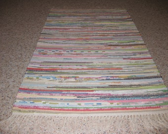 Handwoven Light Multi Rag Rug 25 x 70 (A) (M)