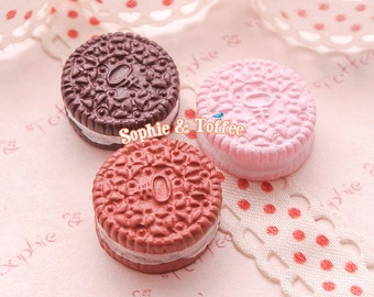 Oreo Cookie Cabochon | Resin Cabochon | Fake Sweets Decoden - 6pcs
