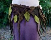 Felt Fairy Woodland Nymph Pixie Pointed Leaf Belt Tu Tu OOAK