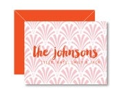 Personalized Folded Notecards  - ART DECO Collection - set of 10