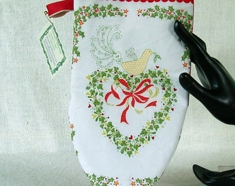 Oven mitt - Christmas - adult size -  either hand