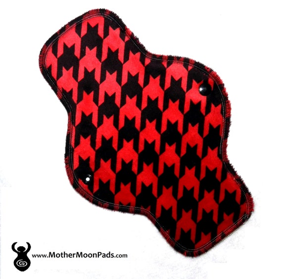 "10"" Houndstooth Minky Pantyliner"