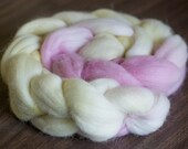 Merino and Baby Alpaca spinning fiber combed top pink yellow natural first love innocence spring summer