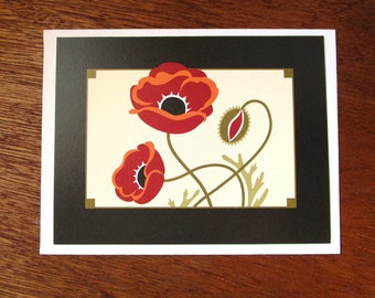 Poppy and Pod Note Card