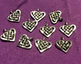 Celtic Heart Pewter Charm