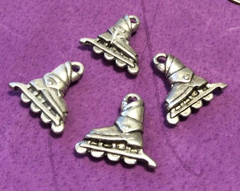 Large Rollerblade Pewter Charms