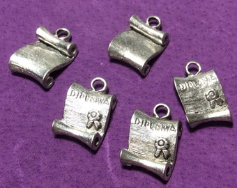 Graduation Diploma Pewter Charms