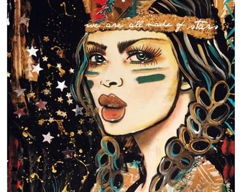 We are all made of Stars' Bohemian Girl by Lisa Ferrante