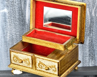 Vintage wooden jewelry box ...   L t1