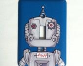 Robot Sticker Decal Light Switch Plate Combo - Robot Head