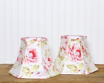 Floral Lamp Shade - Lamp Shade - Lampshade- Shabby Chic - Nursery Lamp Shade - Pink Lamp Shade