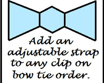 Add an adjustable strap to any clip on bow tie, Doctor who baby,