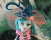Altered Doll, High Fashion Monster Doll, Repaint, OOAK Doll, Ghostly Girl, Custom Art Doll