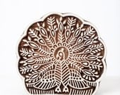 Hand Carved Stamps Peacock 299