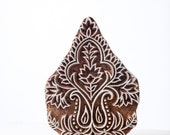 Sale Hand carved wood textile india block stamp 297b