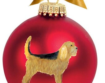 Otterhound Dog Hand Painted Christmas Ornament - Can Be Personalized with Name