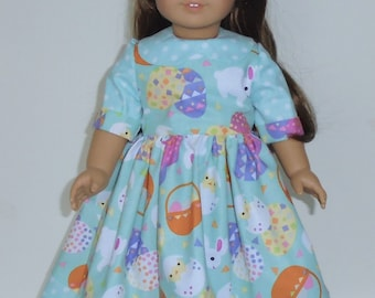 Easter  Dress designed for American Girl Elizabeth or any other 18 inch doll   No. 643
