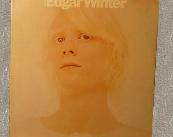 Edgar Winter, record album, Entrance, vintage 1970, vinyl record album, vintage rock music, LP, collectible album, cover art, Epic Records