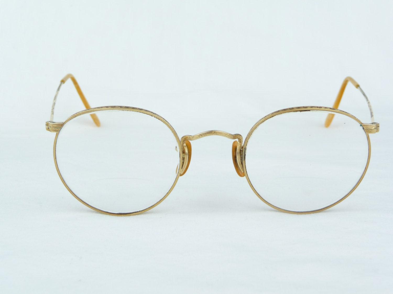 Gold Frame Vintage Glasses : vintage eyeglasses B & L HIBO 1/10 12KGF full wire frame