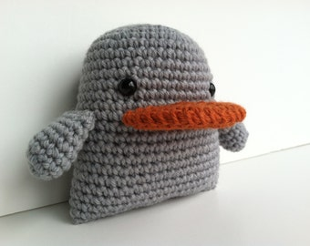 Gift For Kids Plush Ugly Duckling Toy Kawaii Plush Duck Amigurumi Crochet Nursery Decor Gift Under 25 Stuffed Animal Plushie Stuffed Duck