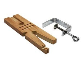 Multi Purpose Wooden Bench Pin with Clamp