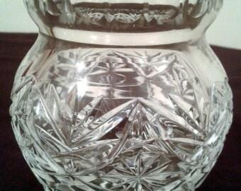 Vintage Crystal Sugar Bowl, Sweets Jar, Candy Jar