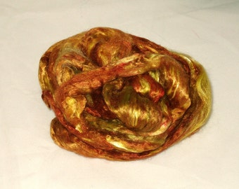 Mulberry Silk-- Tupelo Honey 1/2 oz add in for batts and art roving