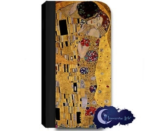 The Kiss by Gustav Klimt Wallet Case for iPhone